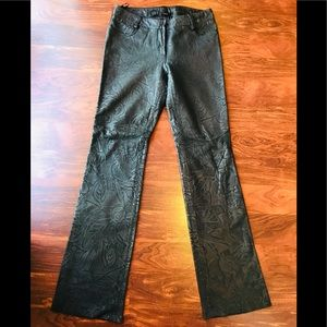 EXPRESS Genuine Leather Embroidered Pants